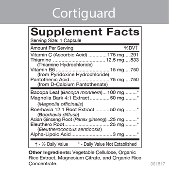 Cortiguard Product Information