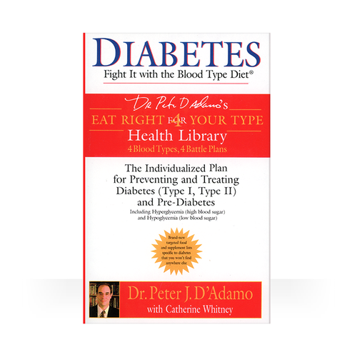 Diabetes Book Fight It With The Blood Type Diet