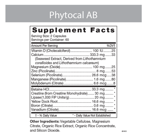 Phytocal AB Label