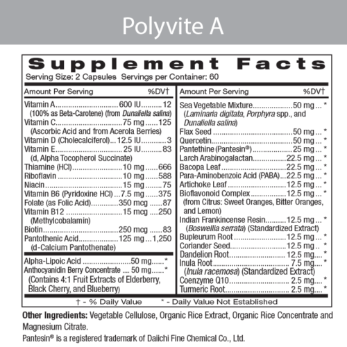Polyvite A Label