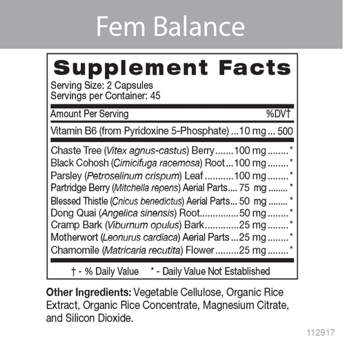 Fem Balance Product Data Sheet