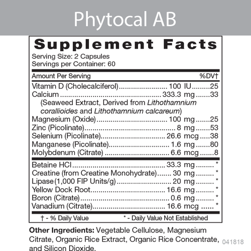 Phytocal AB Product Information